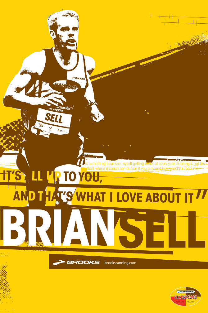 brooks sports brian sell poster kat larson